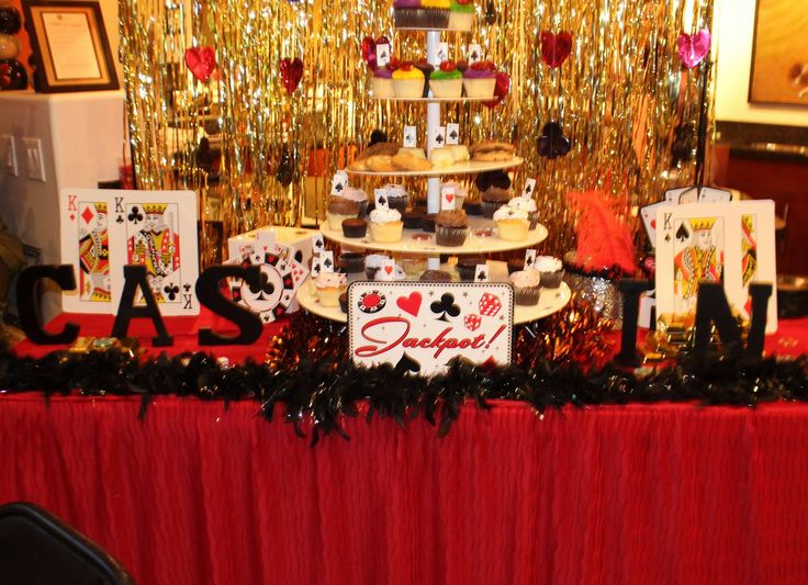 Casino Night | Table Decorations | Dessert Tower | Residential Events | Event Planning