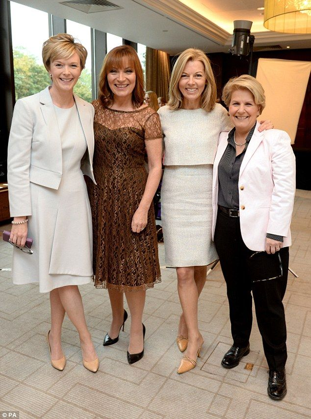 Altogether now: (L-R) Julie Etchingham, Lorraine Kelly, Mary Nightingale and Sandi Toksvig...