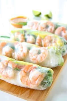 When it's unbearably hot outside, these fresh Shrimp and Avocado Summer Rolls with easy Peanut Dipping Sauce are all I want to eat.