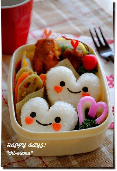 Happy-Valentine onigiri bento