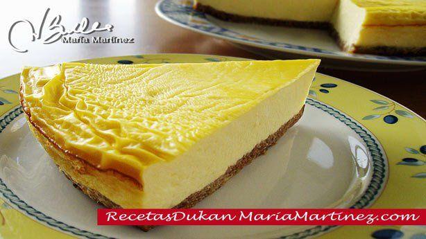 Tarta de queso y galleta, estilo New York (Crucero) | Recetas Dukan Maria Martinez