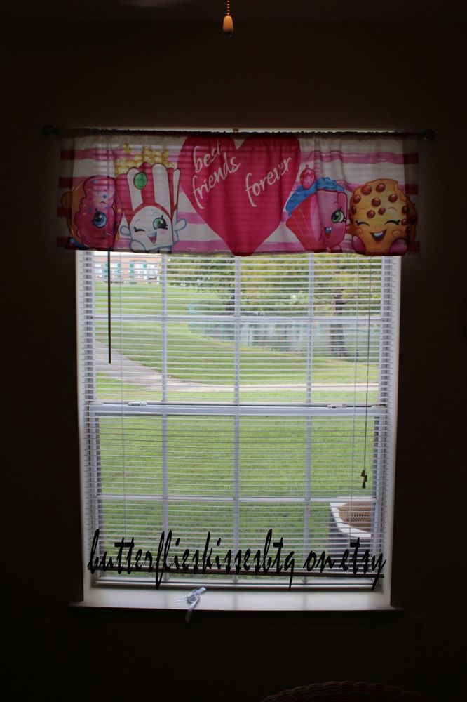 New handmade shopkins valance girls nursery disney kids ladies toddlers  #Handmade #Cottage