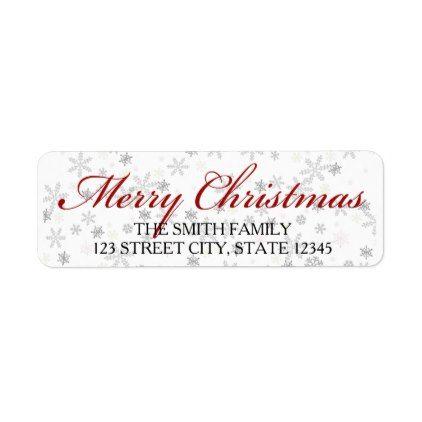 Best  Christmas Return Address Labels Ideas On