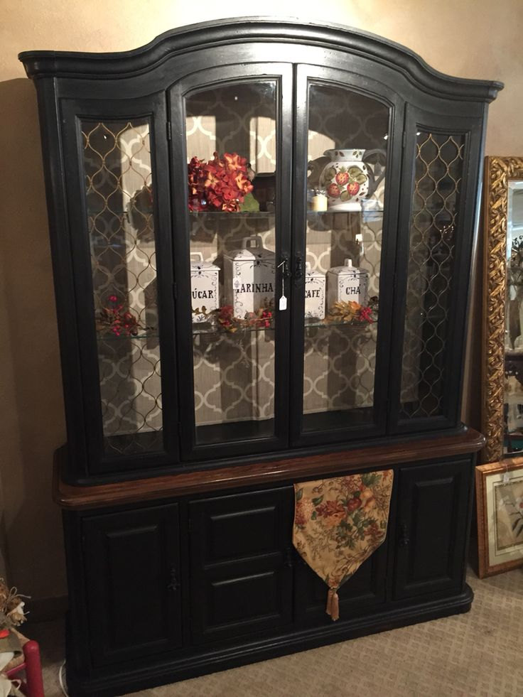 Pin On Painted Furniture For, Wrought Iron China Cabinet