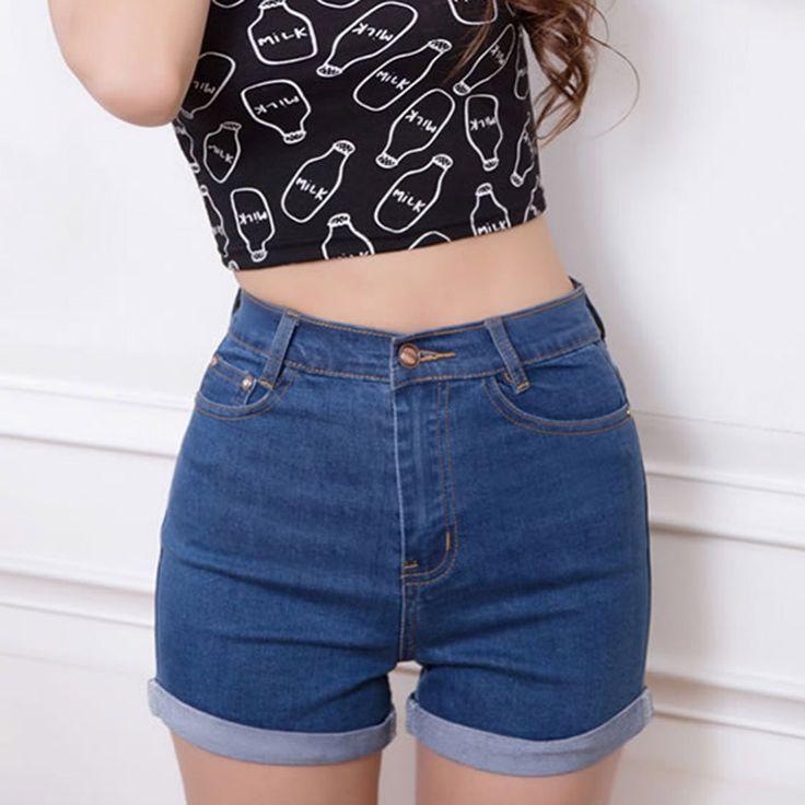 Картинки по запросу джинсовые шорты с высокой талией