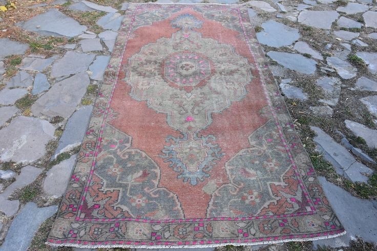 Excited to share the latest addition to my #etsy shop: Stair Rugs Turkish Vintage Rugs Original Rugs Runner Pink Color Free Shipping 4.1 x 8.6 ft Hallway Rugs Decorative Design Rug Boho Rug H-567 http://etsy.me/2mVtBj0 #housewares #red #rectangle #pink #runner #wool #vintagerugs