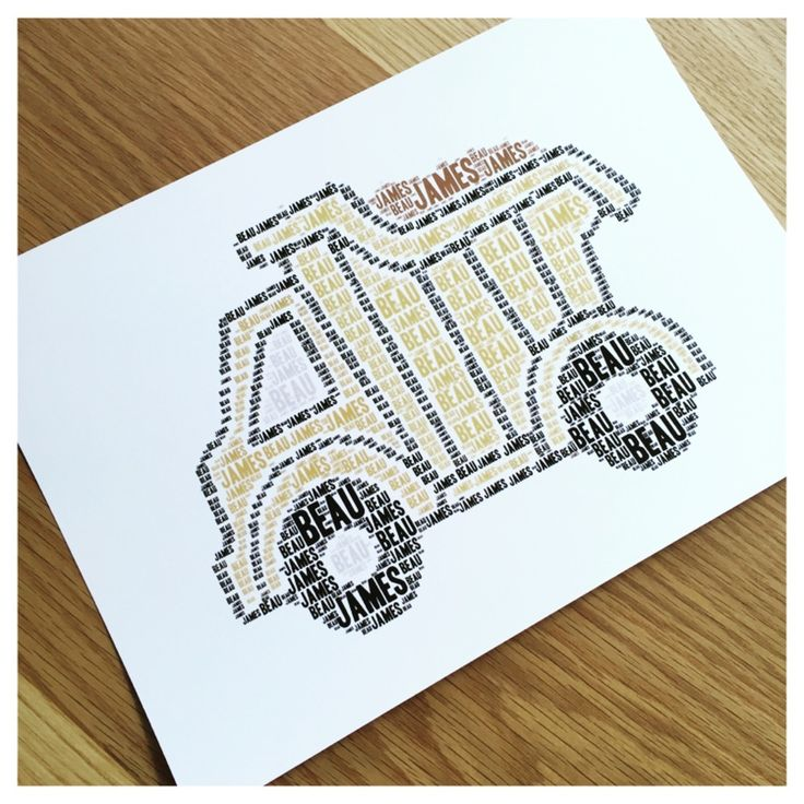 Image of DUMP TRUCK NAME IT PRINT: $20 FOR A4, $35 FOR A3. Any wording, any colour. Printed on beautiful 300gsm paper. Free Shipping in Australia.