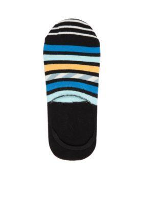 Happy Socks BlackBlue Stripe and Stripe Liner Socks - Single Pair