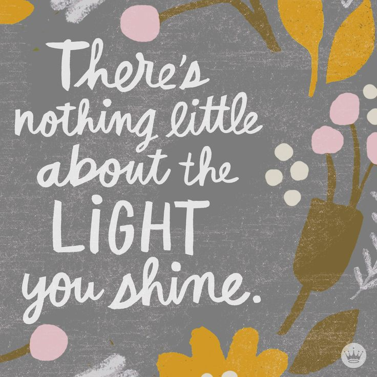 the light you shine.