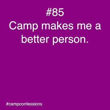"""Camp makes me a better person"", so true at Camp Moshava!"