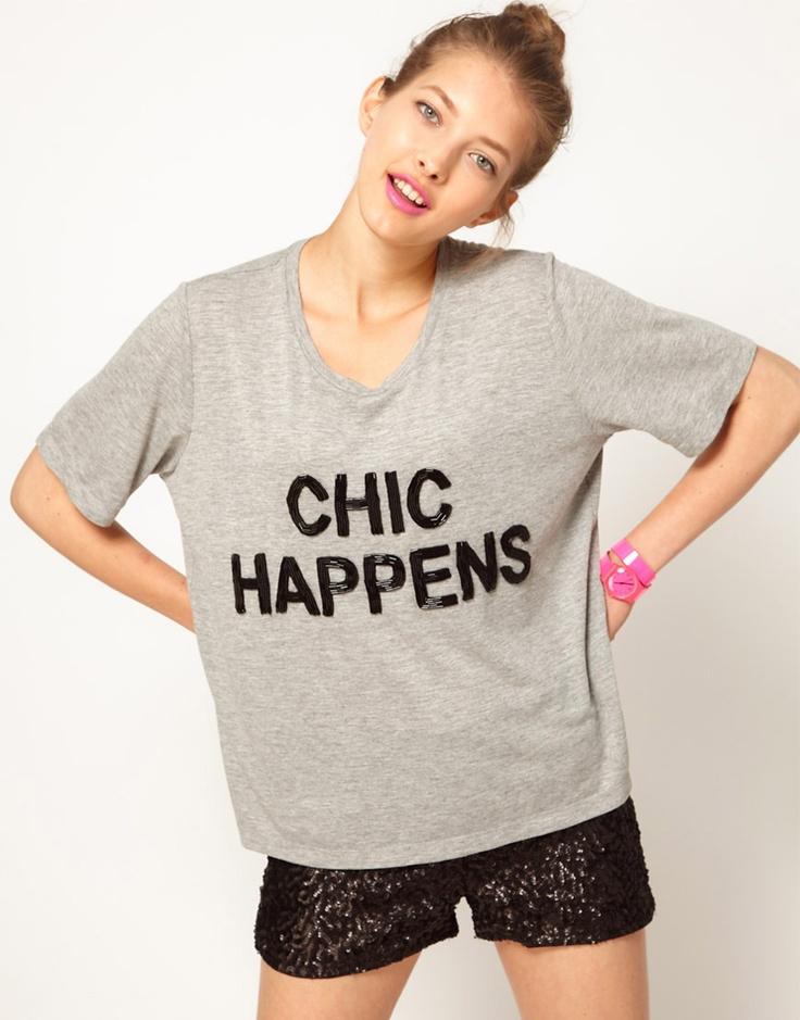 Lulu and Co Ashish 'Chic Happens' Beaded Tee   $224