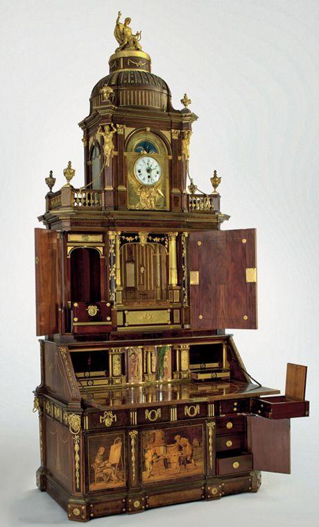 *David Roentgen (German, 1743–1807). Berlin Secretary Cabinet, ca. 1778–79. H. 11 ft. 9 3/8 in. (359 cm). Kunstgewerbemuseum, Staatliche Museen zu Berlin (Inv. nr. O-1962.24). Photograph: Stefan Klonk, Berlin.