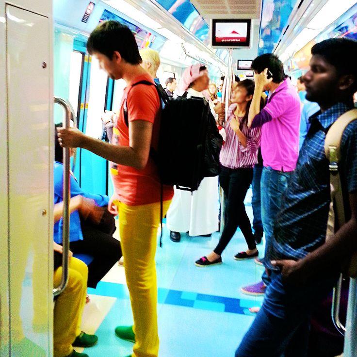 Dubai Metro… Ride on! #dubaiunblogged, #myDubai, dubai, Dubai Metro, transport