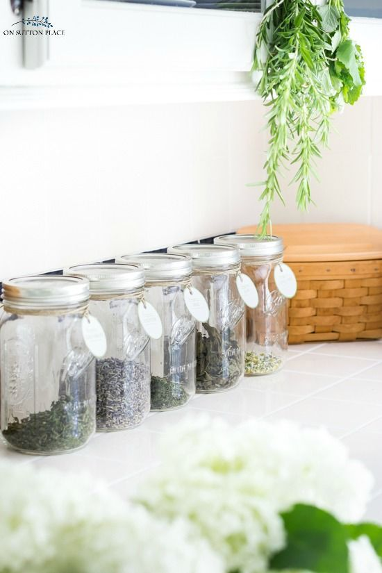 Printable Herb Tags For Storing Dried Herbs