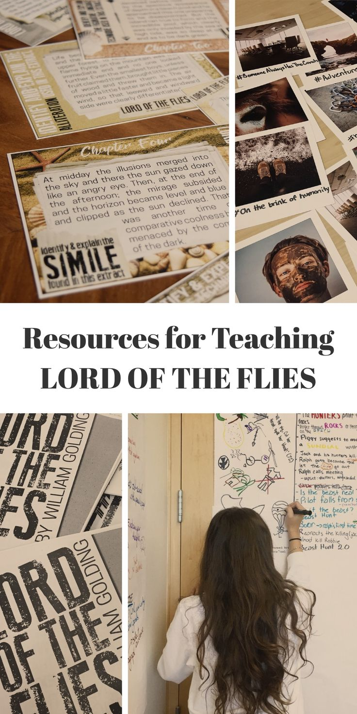 Resources for teaching Golding's Lord of the Flies: lesson plans, workbooks, task cards, and more!