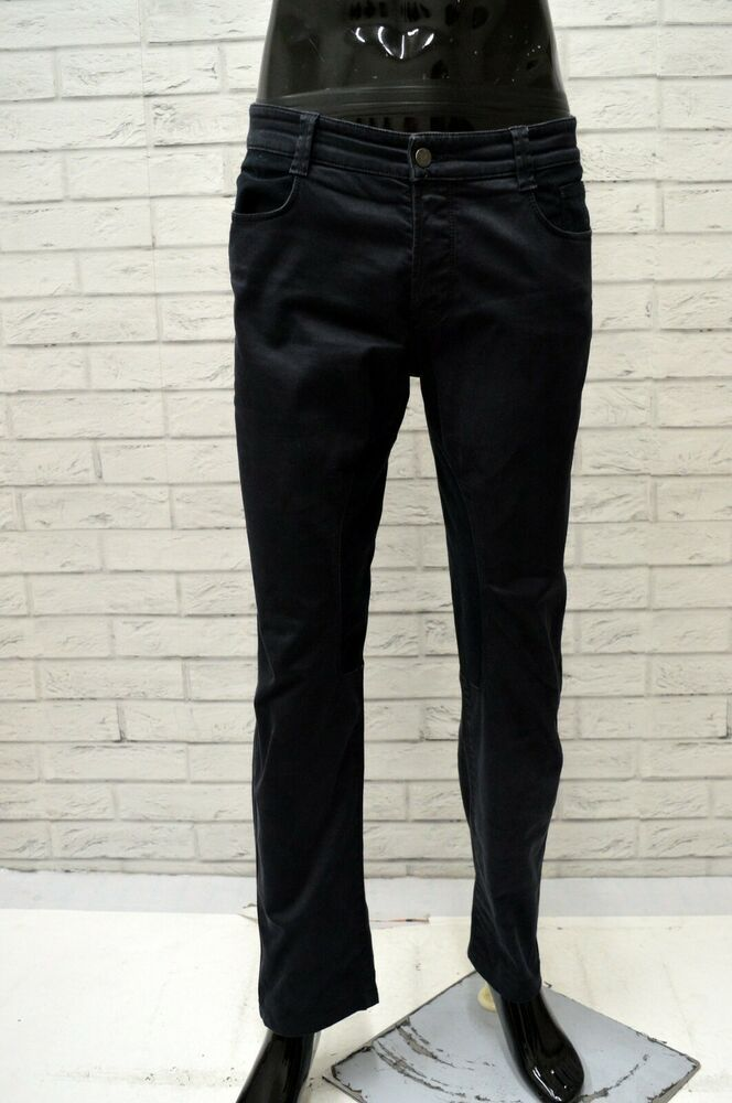 Abiti Eleganti Taglia 36.Pantalone Siviglia Uomo Taglia Size 36 Jeans Pants Man Cotone Blu