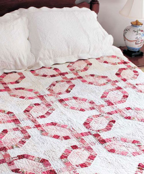 china girl digital pattern like a double wedding ring but with no curves - Double Wedding Ring Quilt