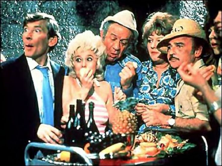 Carry on Films, still love them even if it's corny humour, babs is my favourite.