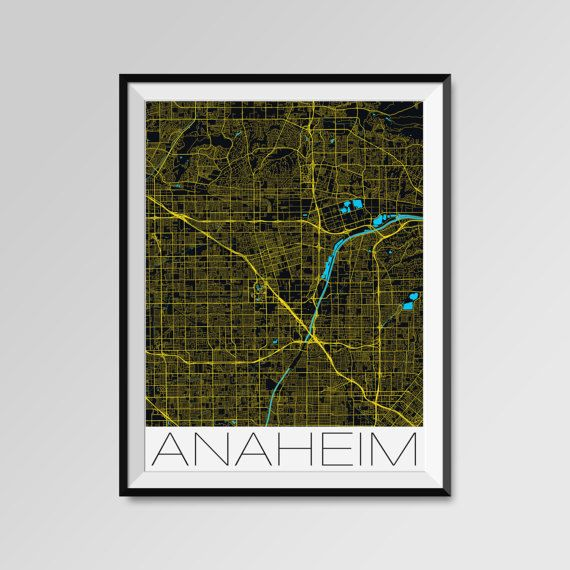 Anaheim map, California print, Anaheim poster, Anaheim map art, Anaheim city maps, California Minimal Wall Art, Anaheim Office Home Décor, black and white custom maps, personalized maps  https://www.etsy.com/listing/285914507/any-city-in-the-world-custom-city-map  Special offer - MULTIPRINT DISCOUNT - ANY CITY IN THE WORLD