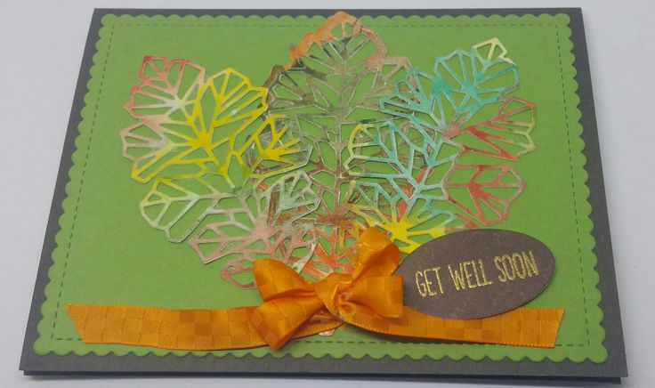 Neat and Tangled Oak Leaf Die, Danielle Smith Watercolors