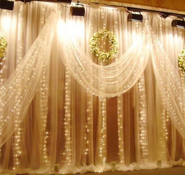 Wholesale Wedding Light Curtain - Buy 1000 LED Lights/Bulbs 10m*3m Curtain Lights,Christmas Ornament Light,Flash Colored Fairy Wedding Decoration Lights,Icicle LampL102, $103.8 | DHgate