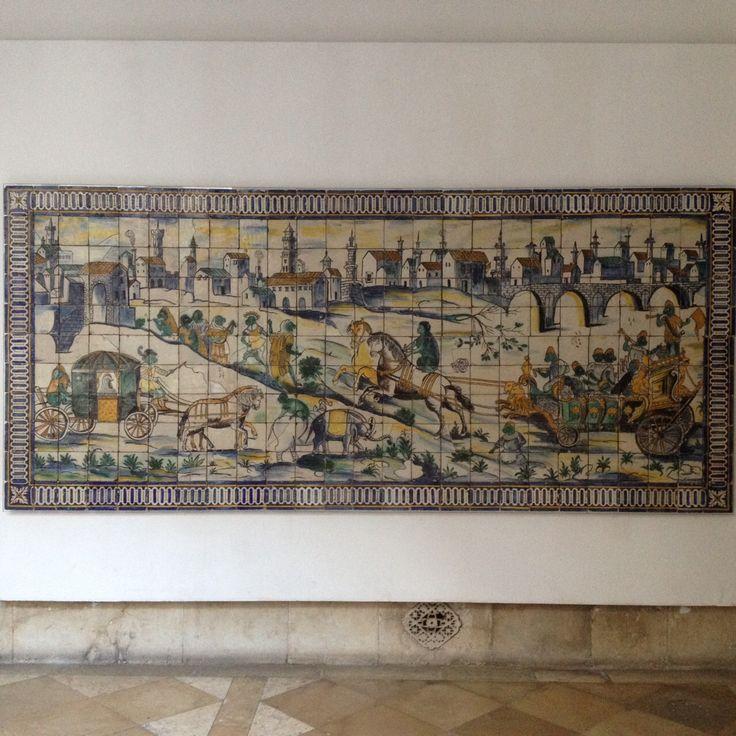 A EQUIPA DO Az / The Az Team [Teresa Pinto Silva] - Casamento da Galinha | 1660-1667 | Museu Nacional do Azulejo / National Azulejo Museum | Inv. nº MNAz 400 Az  #Azulejo  #MNAz