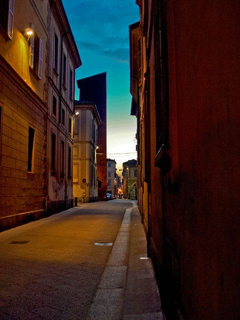 Sunset in Pavia, Lombardy, Italy