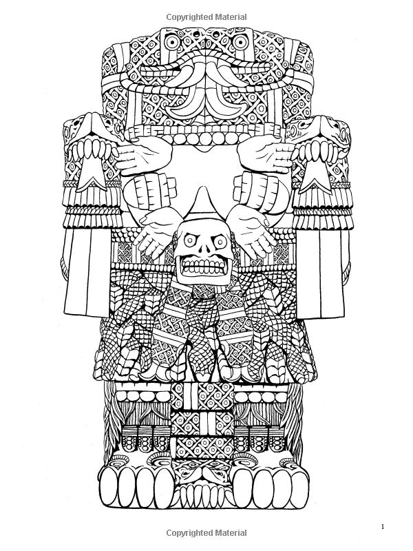 Aztec Designs Coloring Book Dover Design Books