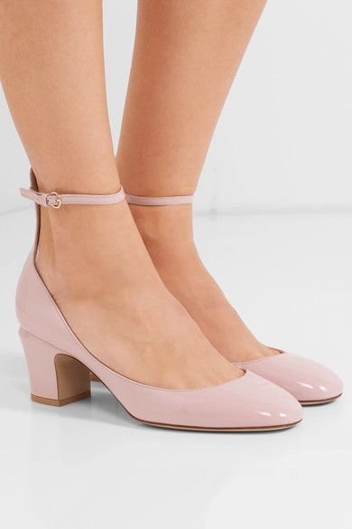 Valentino - Tango Patent-leather Pumps - Baby pink - IT