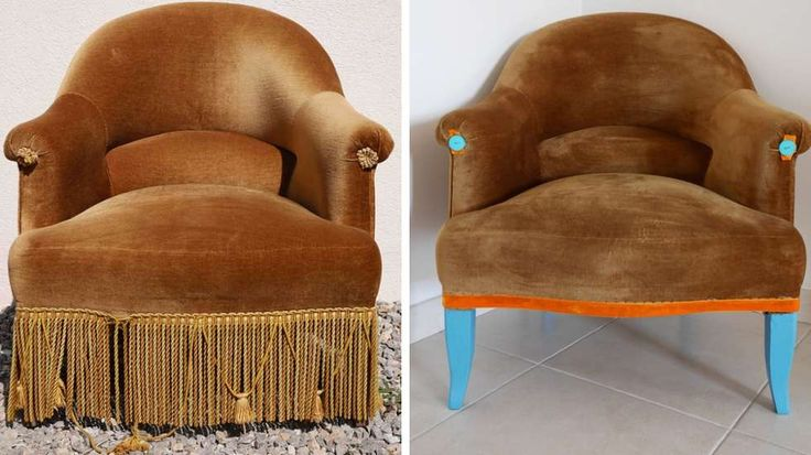 relooking fauteuil crapaud ancien  An easy up-cycle!