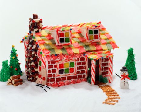 These gingerbread houses include pictures to give you ideas for decorating your own gingerbread houses. Whether you want to make simple graham cracker houses with the family or create something worthy of a pastry chef, these gingerbread house pictures will inspire you.: Gingerbread House with Snowman