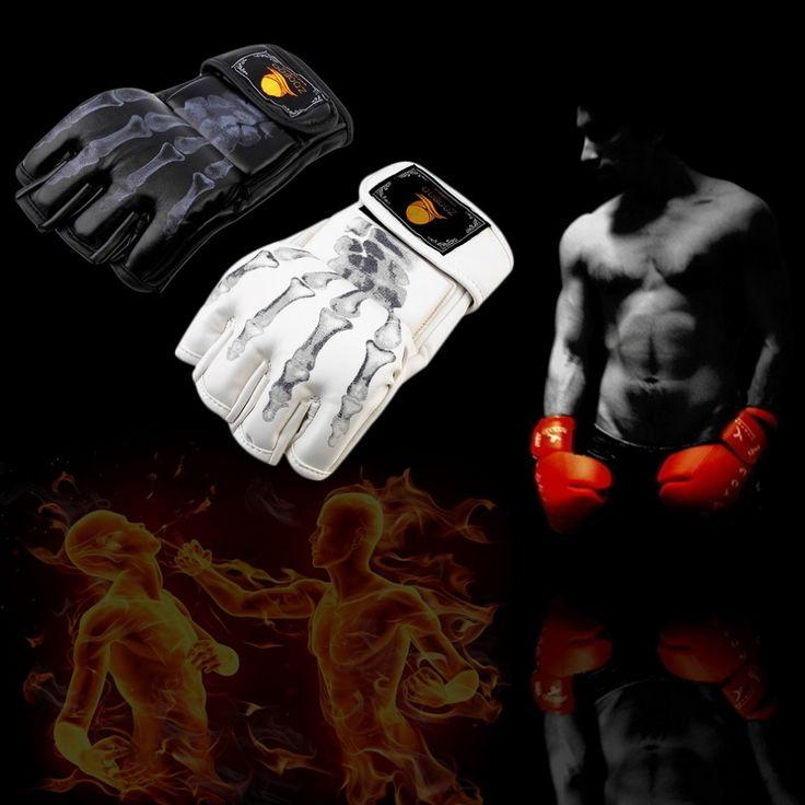 Hot Sale MMA Fight Boxing half finger glove MMA, Sparring gloves, fight sandbags professional wrestling Fighting Fist