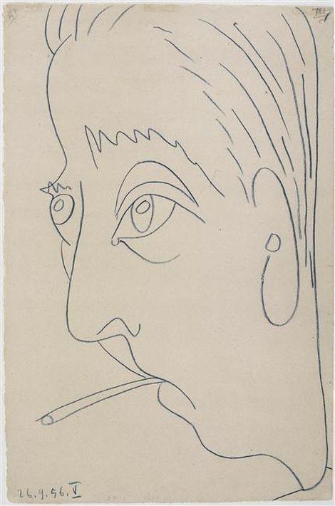 Pablo Picasso, Portrait de Jacques Prévert