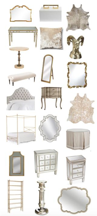 I really love this sale. Lots of silver and gold furniture and accessories