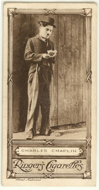Charles Chaplin- ♥Cinema Stars Cigarette Card