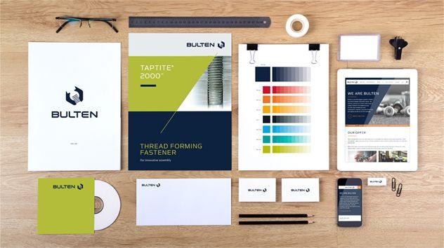 Bulten ville modernisera den grafiska profilen så att den harmoniserar med hur bolaget ser ut och verkar idag.