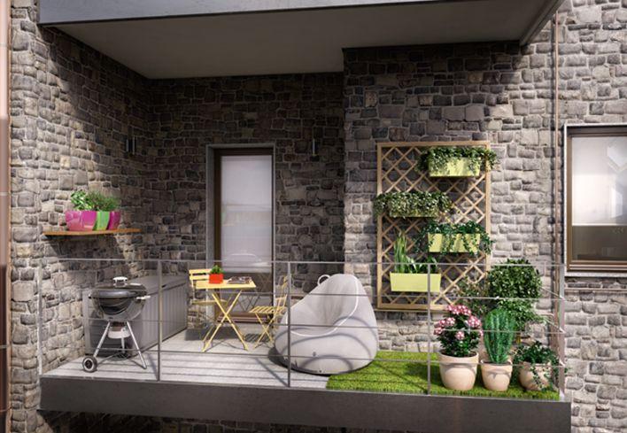 Un piccolo terrazzo con oasi verde! Scopri come creare un angolo verde in una piccola terrazza per rilassarti e accogliere amici: http://www.leroymerlin.it/idee-progetti/progetti-esterno/terrazzo-piccolo