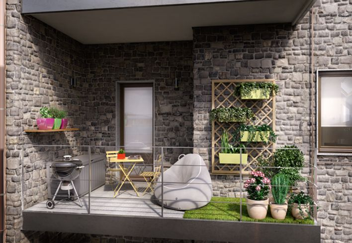 17 migliori idee su piccola terrazza su pinterest for Idee per giardino in terrazza