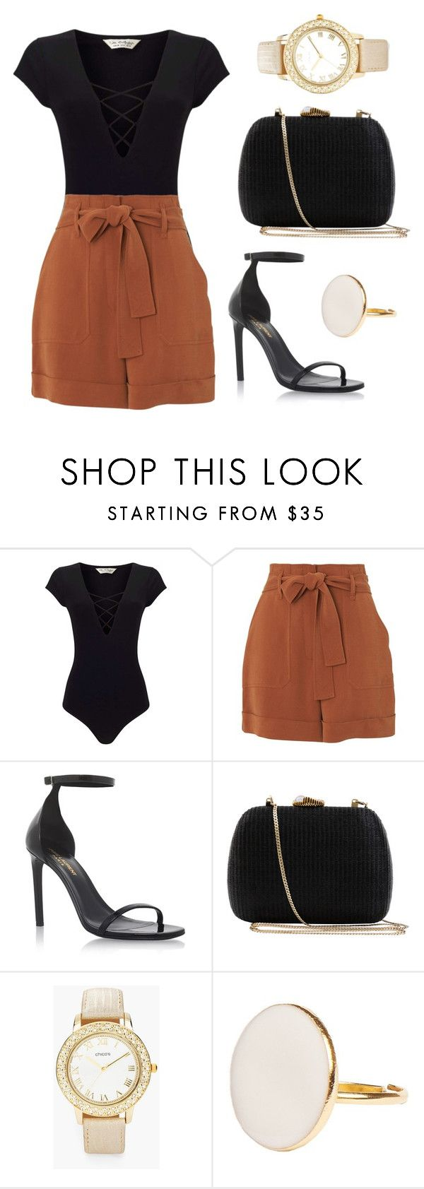 """Untitled #261"" by jasmine-abdallah on Polyvore featuring Miss Selfridge, Whistles, Yves Saint Laurent, Serpui and Chico's"