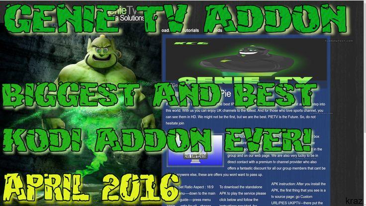 GenieTV Latest Update Kodi Spmc SMC FMC Top Addon For April 2016