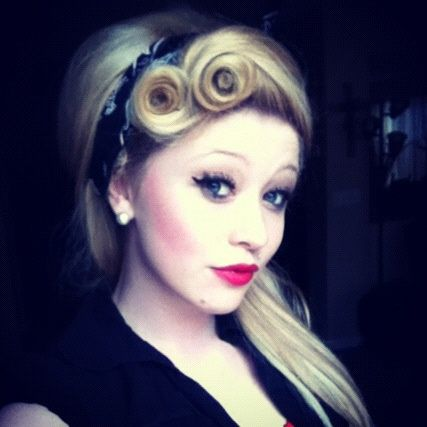 Rockabilly Hair Victory Rolls Pinup Hair Psychobilly
