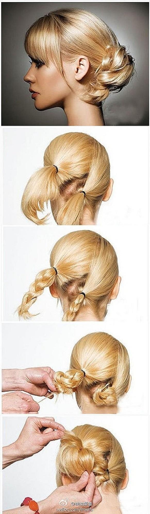 как собрать на ночь волосы
