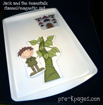 Free Jack and the Beanstalk printable flannel or magnetic set via   www.pre-kpages.com/jack/