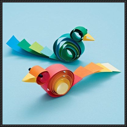How to Make a Curly Bird Paper Craft