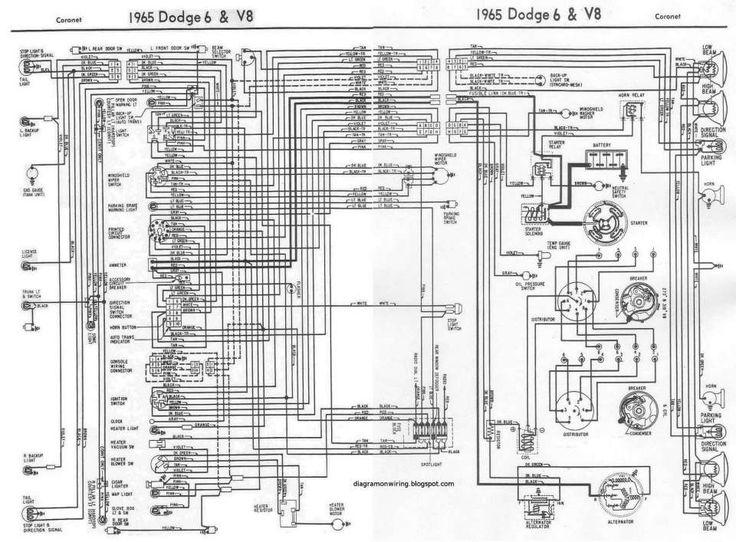 12  67 Dart V8 Engine Bay Wiring Diagram
