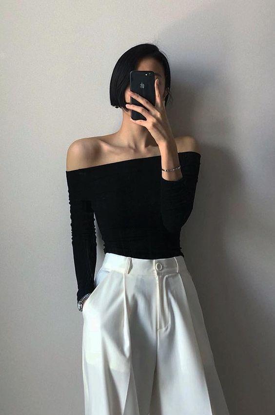 Wie trägt man eine Weiße Plissee-Hose mit hoher Taille in diesem Sommer #womensfashion   – Fashion Inspo