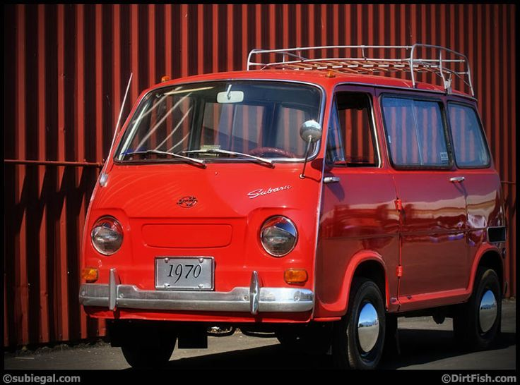 Is this what you bought yourself for your birthday, Ron? Red Subaru 360 Van