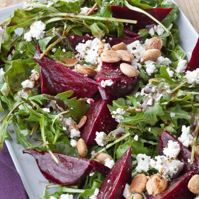 Balsamic Roasted Beet Salad - Barefoot Contessa - LOVE this vinagrette. The beets taste AMAZING!
