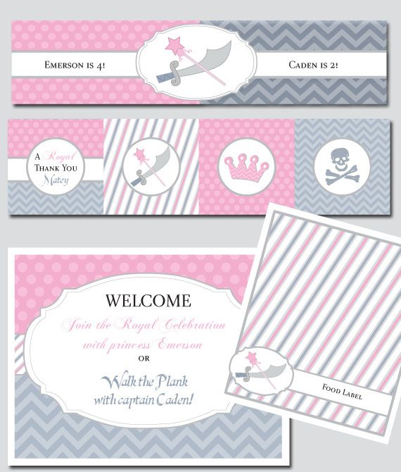 Princess and pirate birthday party invitations choice image pirate princess party invitation orderecigsjuicefo filmwisefo