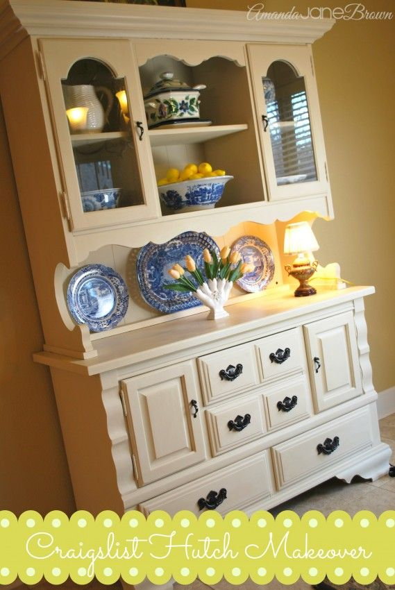 painted hutch | Annie Sloan Chalk Paint Hutch Makeover | Amanda Jane Brown